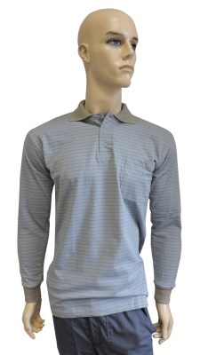 ESD polo long sleeves type ESD130, grey
