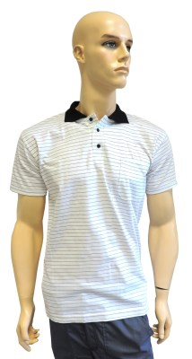 ESD polo short sleeves type ESD140, white