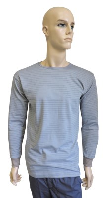ESD T-shirt long sleeves type ESD111, grey