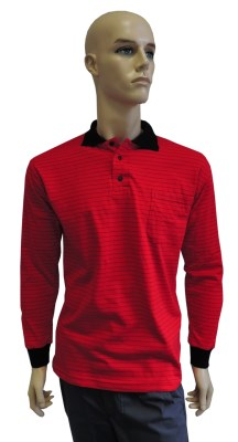 ESD polo long sleeves type ESD130, red