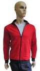 ESD sweatshirt, pocket & zip fastening type ESD203, red