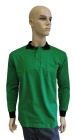 ESD polo long sleeves type ESD130, green