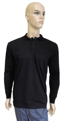 ESD polo long sleeves type ESD130, black