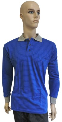 ESD polo long sleeves type ESD130, royal blue