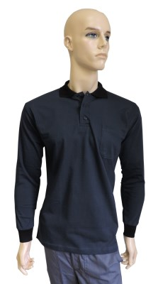 ESD polo long sleeves type ESD130, dark blue