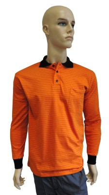 ESD polo long sleeves type ESD130, orange