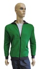ESD sweatshirt, pocket & zip fastening type ESD203, green