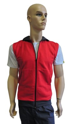 ESD vest type ESD204, red