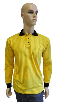 ESD polo long sleeves type ESD130, yellow